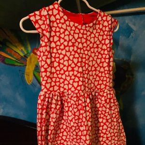 4T Red and White Heart Dress